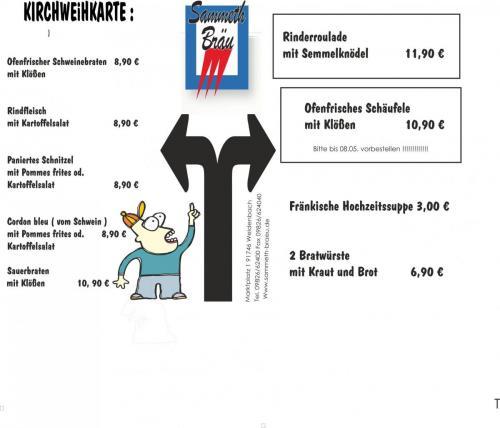 Kirchweih 2021Speisekarte1